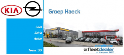 Groep Haeck is genomineerd voor de prestigieuze Fleet Dealer of the Year award!